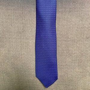 Hermes purple tie